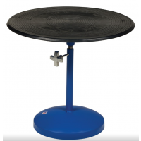 turntable with turn knob height adjustment