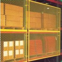 Pallet Rack With Wire Decking And Rack Guard