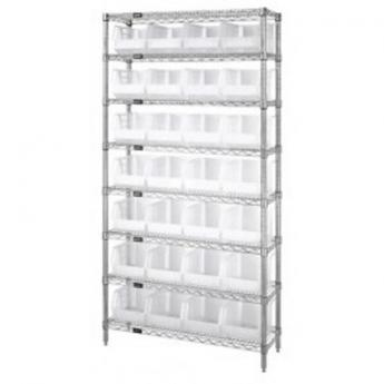 Clear Storage Bins With Wire Shelving