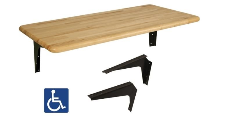 ada wall mounted bench kit