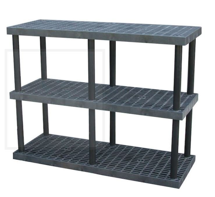adjustable plastic shelving