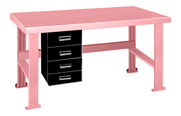 Pink Elephant Work Bench With Alpha Drawers On The Left