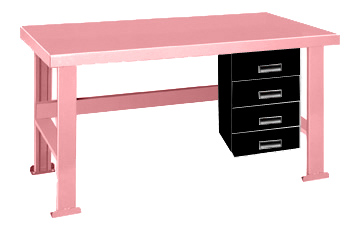 Pink Elephant Work Bench With Alpha Drawers On The Right