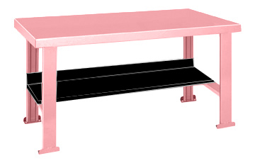 Pink Elephant Work Bench With Black Shelf