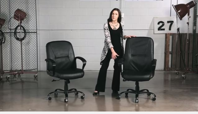 big and tall chair with model