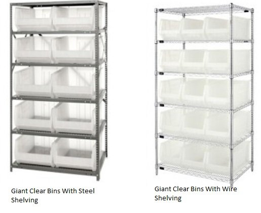 Giant Clear Storage Bins And Shelving  sc 1 st  A Plus Warehouse & Giant Clear Storage Bins and Shelving Plastic Bins