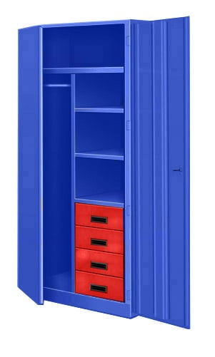 Bigblue Wardrobe Cabinet With Drawers