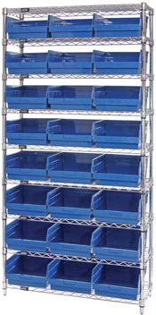 Wire Shelving With Extra Tall Shelf Bins