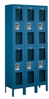blue see through locker