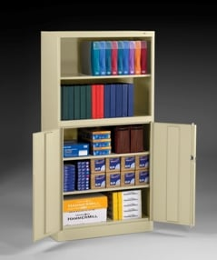 Storage Cabinet And Bookcase Combination Unit