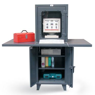 Computer Cabinet With Extra Wide Work Surface