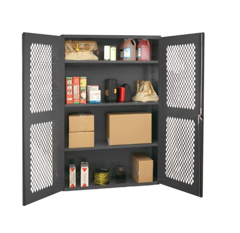 cabinet with expanded metal doors
