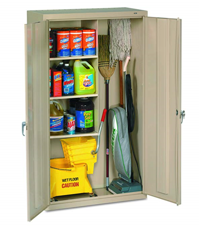 cleaning supply storage cabinet