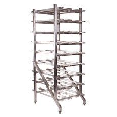 162 Can Capacity Stationary Can Rack