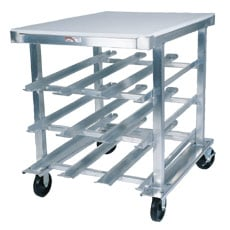 72 Can Capacity Mobile Can Rack - With Poly Top