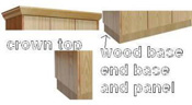Wood Bases and Crown Moldings for Wood Club Lockers