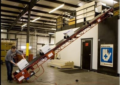 Deluxe Incline Conveyor Power Conveyors A Plus Warehouse