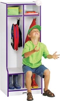 double child lockers with seat