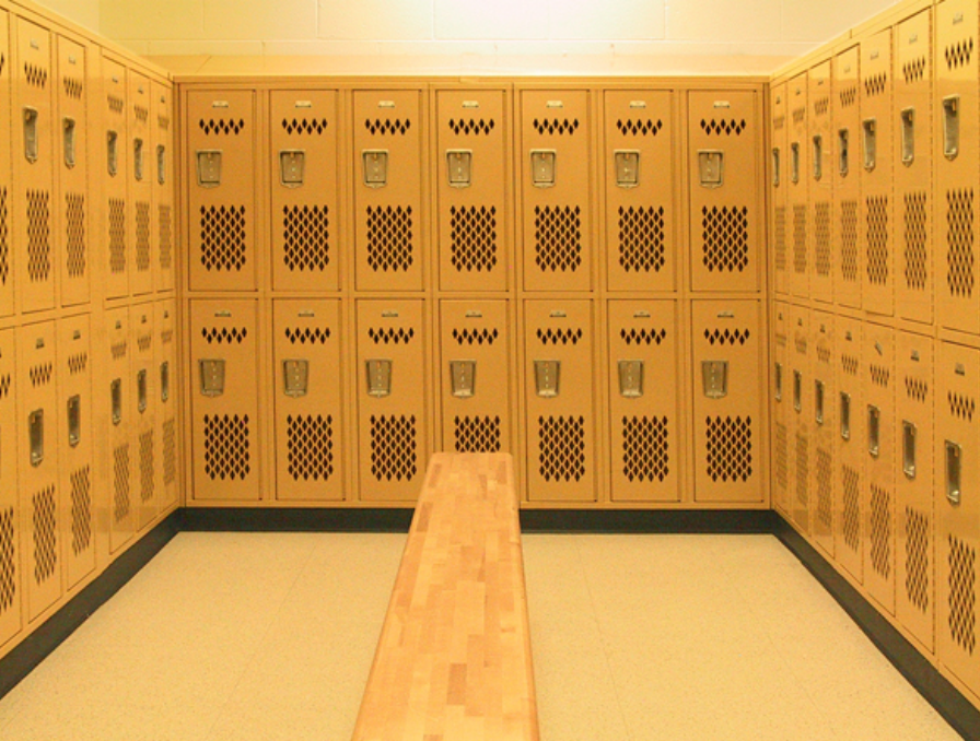 double tier metal gym lockers