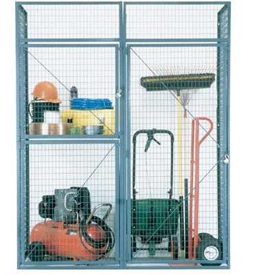 double tier storage locker