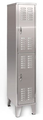 Deluxe Welded Double Tier Stainless Steel Lockers