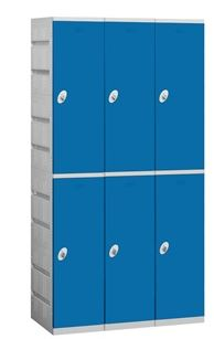 economizer double tier blue plastic locker