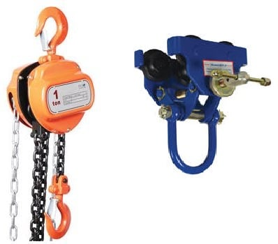 economy hand chain hoists and trolleys