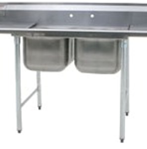 Two Compartment Stainless Steel Sinks