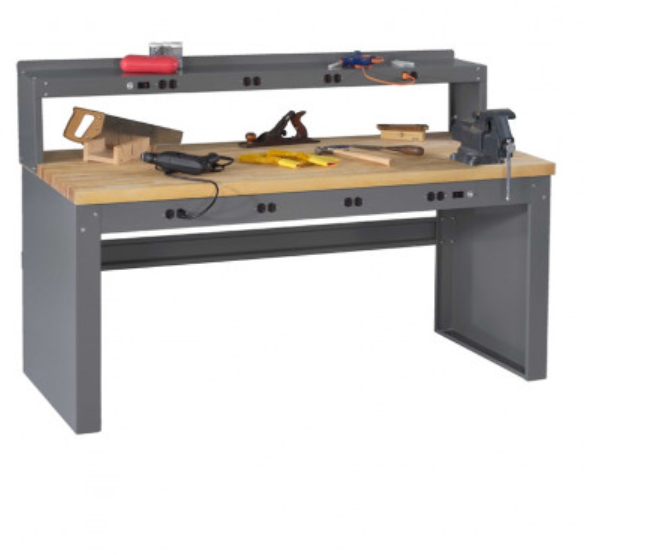 electronic workbench with electronic riser