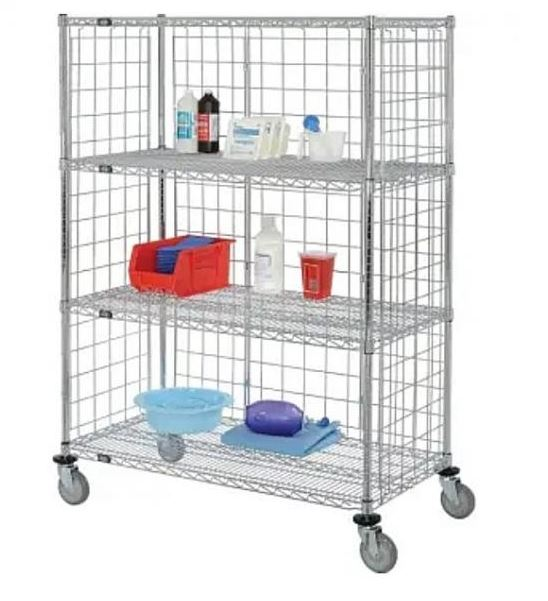 enclosed wire shelf truck