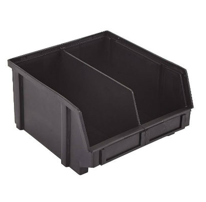 esd safe part bins with divider