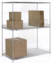 Extra Deep Chrome Wire Shelving