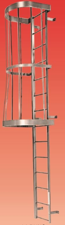 fixed steel ladders with cage