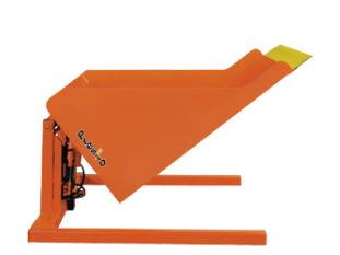 floor level container tilter