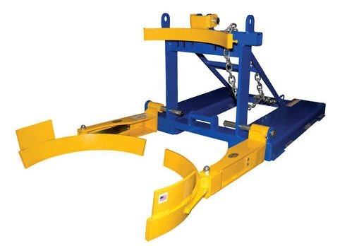 fork mounted poly drum handler bottom grip