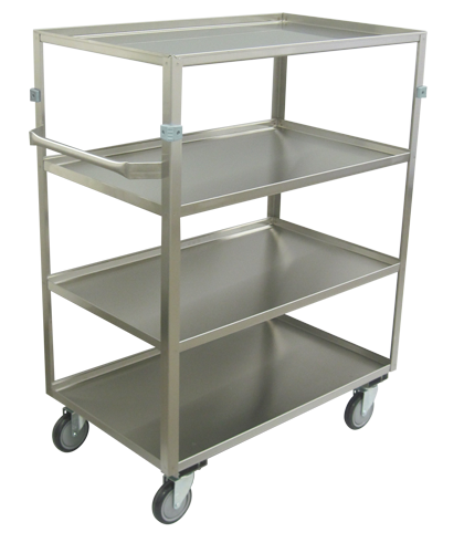 four shelf stainless steel utility cart