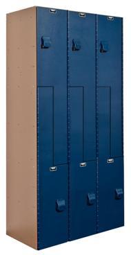 Double Tier Plastic Lockers Z Style