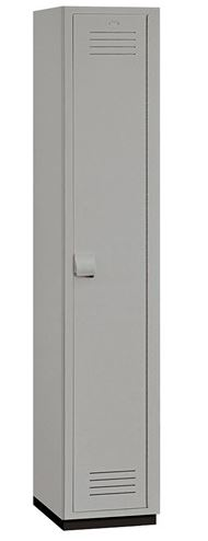 gray plastic locker