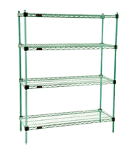 green epoxy shelving