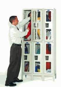 See Through Double Tier Lockers