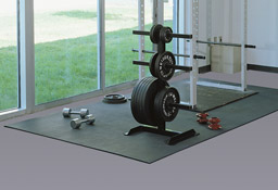 weight room rubber floor matting