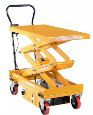imported 1000 pound capacity dc double scissor cart