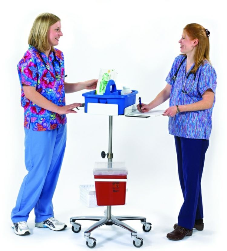 in action phlebotomy cart