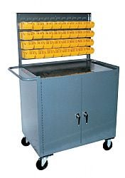 Mobile Work Stations With Cabinet And Bins