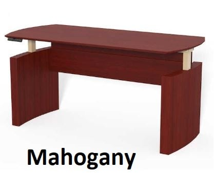 mahogany curved desk