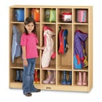 Five Section Maplewave Coat Locker