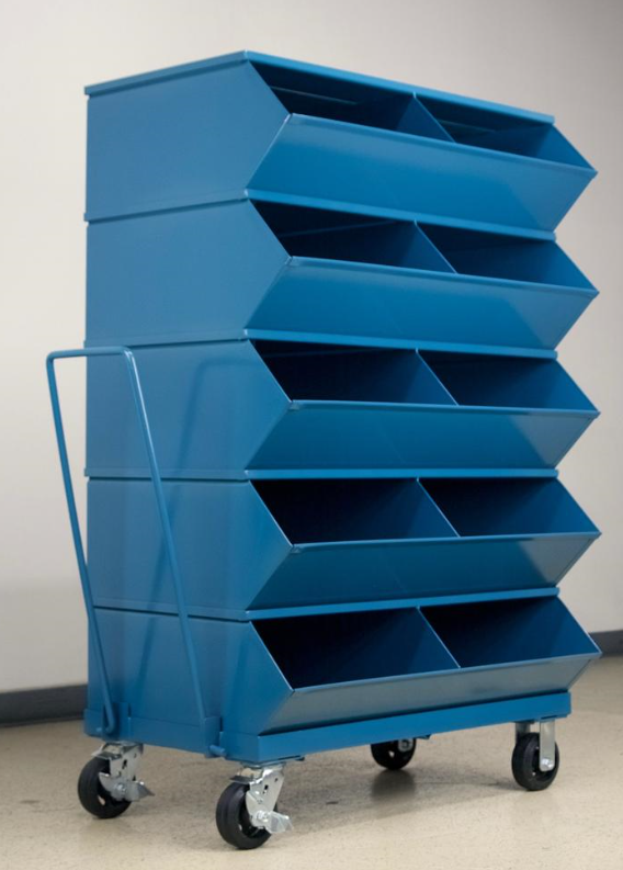 mobile large compartment stackbin