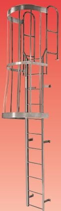 modular access walk thru ladder with cage