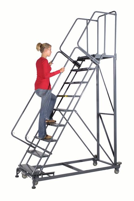 Heavy Duty Rolling Safety Ladders Warehouse Ladders