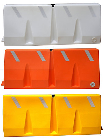 plastic jersey barriers